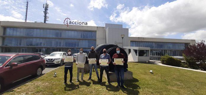 Trabajadores de Acciona obtienen certificados de profesionalidad de operaciones Navarra