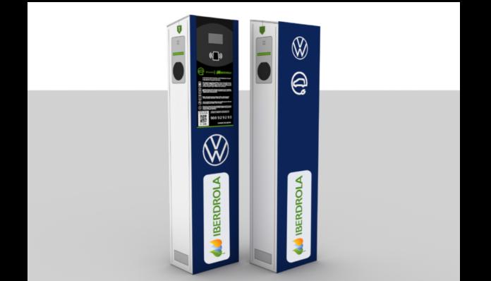 Volkswagen Navarra e Iberdrola inician el despliegue de cargadores electricos en la fabrica
